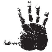 Handprint — Stockvector