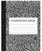 Black Composition Book — Stock Vector