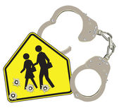 Handcuffs and school — Stock Vector