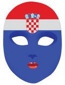 Masque de Croatie — Vecteur