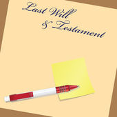 Last Will and Testament — Stock Vector