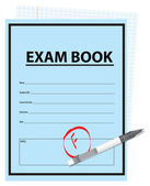 Score F on the exam — Stock Vector
