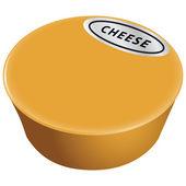 Kaas hoofd — Stockvector