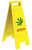 Attention marijuana — Stock Vector