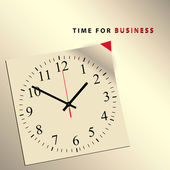 Time for business — Stock Vector