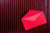 Background with red envelope — Foto Stock