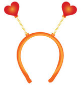 Red heart on the hoop — Stock Vector