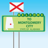 Stand Welcome to Montgomery City — Stock Vector