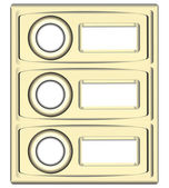 Block doorbell buttons — Stockvector