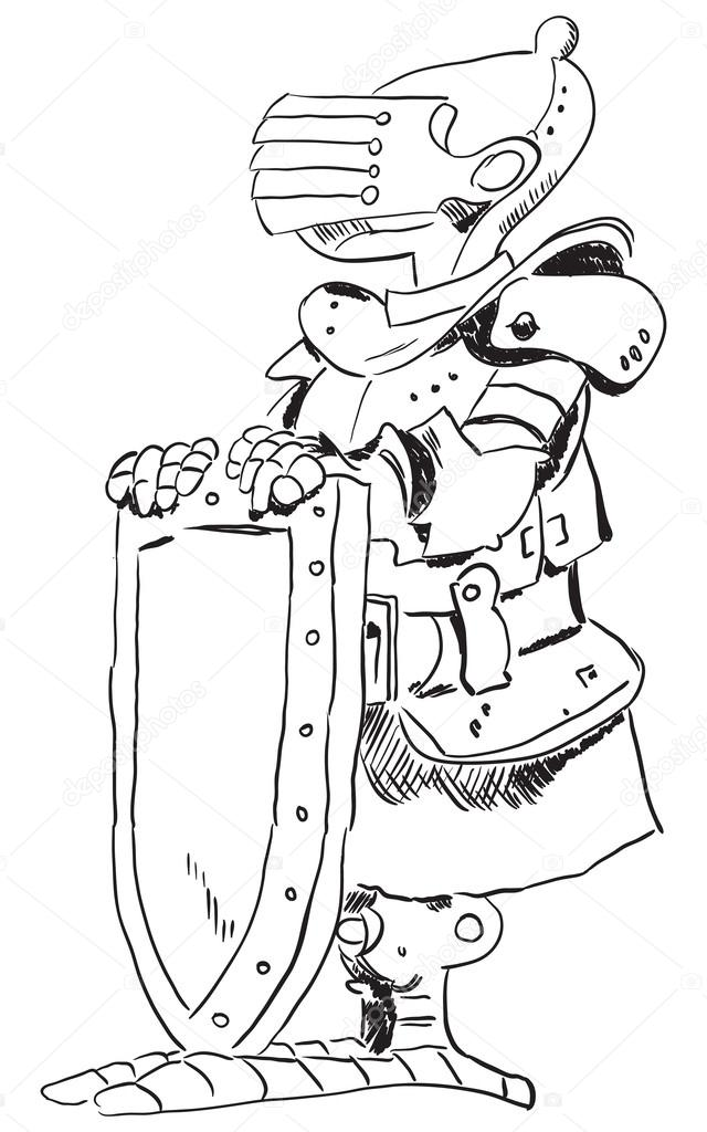 中世纪的骑士 — 图库矢量图片