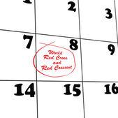 Calendar medical organization — Stock Vector
