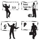 Teacher at the blackboard — Wektor stockowy