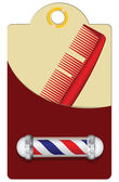 Old Style Barber — Vector de stock