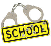 Crime in schools — Stock Vector