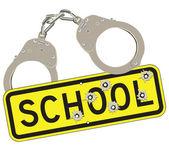 Crime in schools — Stock Vector