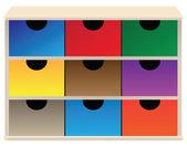 Box organizer — Stock Vector