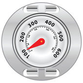 Grill Surface Thermometer — Stock Vector