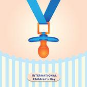 International Children's Day — Cтоковый вектор