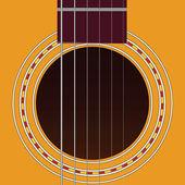 Six-string guitar — Stock Vector