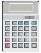 Calculator for simple arithmetic — Stock Vector