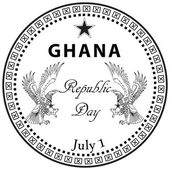 Ghana republic day — Vettoriale Stock