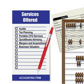 会计服务的公司列表 — 图库矢量图片