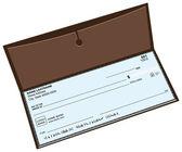 Lederen chequeboek — Stockvector