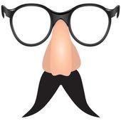 Drooping mustache — Stock Vector