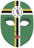 Dominica mask — Stock Vector