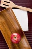 Fondo con manzana — Foto de Stock