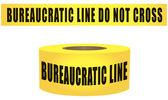 Bureaucratic line do not cross — Stock Vector