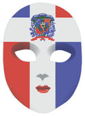 Dominican Republic mask — Stock Vector