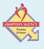 Sign adoption agency  — Stock Vector
