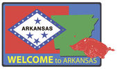 Welcome to Arkansas — Stock Vector