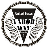 Stamp Labor Day — Stock Vector
