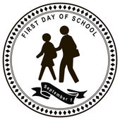 First day of school — Stock Vector