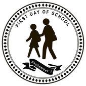 Pierwszy dzień w szkole — Wektor stockowy