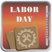 September Labor Day — Stock Vector
