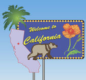 Welcome to California — Stock Vector