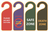 Warning on the door knob — Stock Vector
