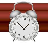Bomb with alarm clock detonator — Stock Vector