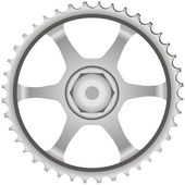 Gear steel — Stock Vector