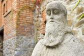Stone sculpture of sage — Stock Photo