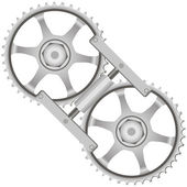 Tool locking gears — Stock Vector