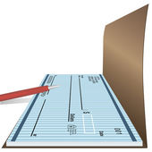 Checkbook with pen — Stock Vector