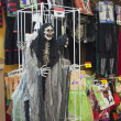 Stockfoto: Halloween, stores with holiday trappings.
