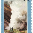 Stock Photo: Kamchatka, Valley of Geysers on post stamp