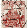 Town Hall of Wernigerode on post stamp - Stok fotoraf