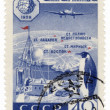 Research station in Antarctica on post stamp — Stock Photo
