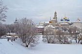 Holy Trinity Sergius Lavra in winter — Stock Photo